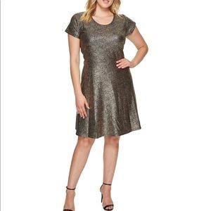 Nwt Michael Kors gold and black dress